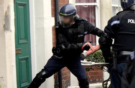 Police Break Down A Door