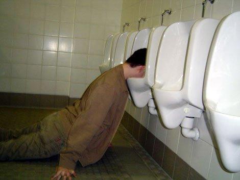 drunk urinal