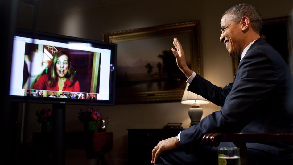 obama google hangout