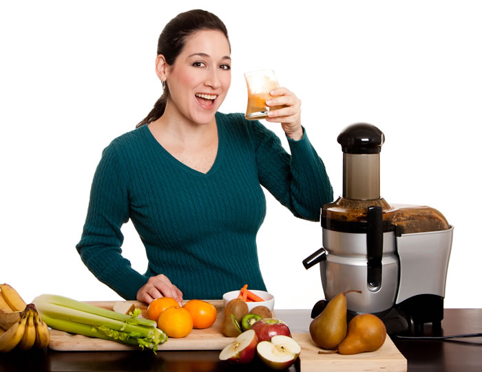 Juicing woman